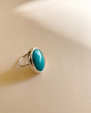 Turquoise silver ring      OBH-033