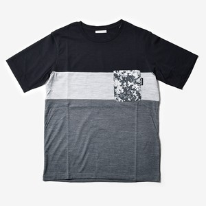 MMA 3tone Mountain Wool Pocket Tee (Black_Gray)