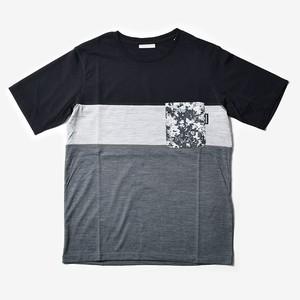 MMA 3tone Mountain Wool Pocket Tee (Black_Gray)