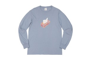 WHIMSY / PAPER L/S TEE -STONE WASHED BLUE-