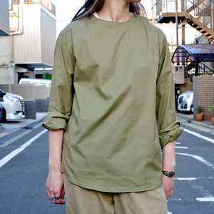 【DEADSTOCK】ユーロ ミリタリー ノーカラー プルオーバーシャツ