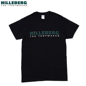 ヒルバーグ メンズ ロゴTシャツ ブラック Lサイズ