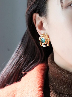 Nina Ricci stone earrings