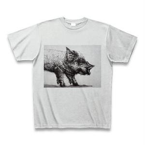 Tシャツ「ヤケ豚」アッシュ