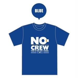 NO-CREW × 夏達維(Natsu Tatsuyuki) コラボレーション Tシャツ ブルー (受注)