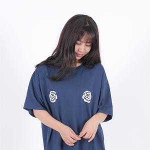 ROSE Oversize T-shirt (ネイビー)