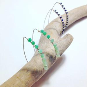 Tiny gemstones ラインピアス