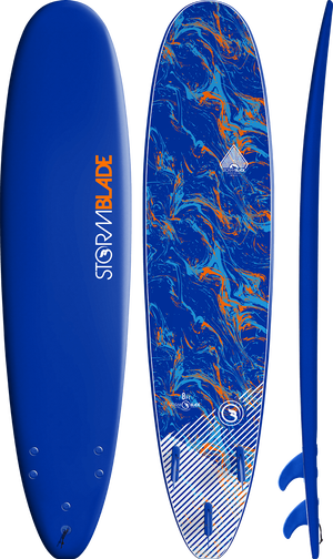 Storm Blade 8ft Surfboard / Navy Blue