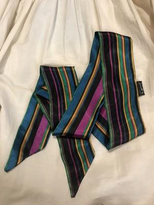 Vintage stripe poly scarf ( ヴィンテージ ストライプ ポリエステル スカーフ )