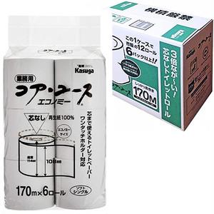 コストコ ユアユース トイレットペーパー シングル 100%リサイクルペーパー 170m 6ロール | Costco Yuayusu toilet paper single 100% recycled paper 170m 6 roll