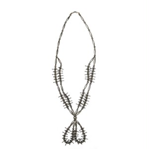 Navajo Vintage Silver Jacla & Bird Necklace