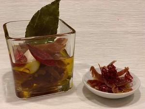 イタリア パルマ産24か月熟成生ハムのピリ辛オイル漬け