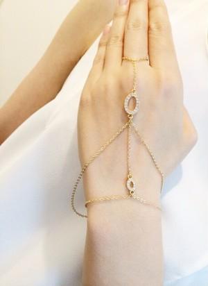 Fingerbracelet CrystalCircle