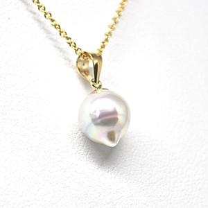 20%off【訳あり!】あこや本真珠のしずくのネックレスO