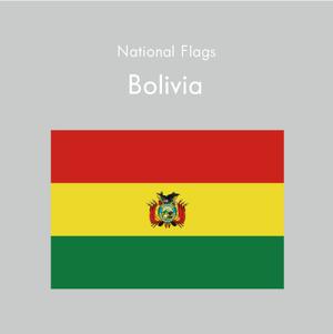 国旗ステッカー ボリビア