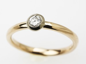 k18ピンクゴールドのダイヤモンドファッションリング