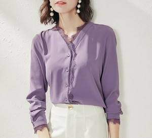Purple blouse with lace
