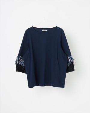 【COOHEM】スプリングエアーツイードTシャツ : ネイビー