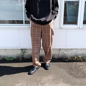 checked wool-amundsen trousers | unfil