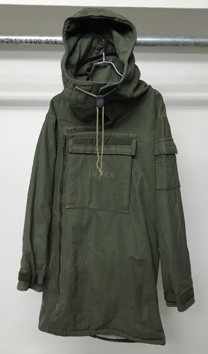 1970s SWEDISH ARMY FUNNEL NECK ANORAK PARKA