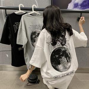 【トップス】欧米シンプルカジュアルアルファベットプリントラウンドネックプラスサイズTシャツ