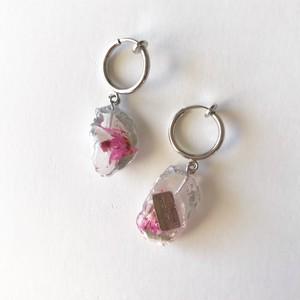 mini white earring