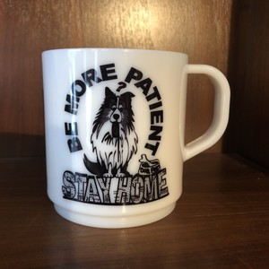 Coffee Mug Made in Japan, STAY HOME Dog