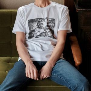 メンズTシャツ(プリント図柄「AB」)