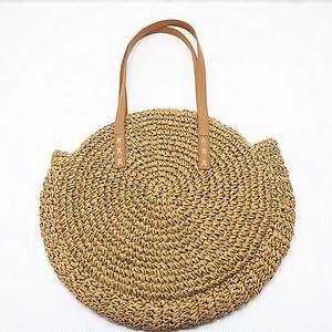 【バッグ】新作夏草編み肩掛け無地ファッションカゴバッグ