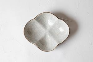 [谷井直人]白×黒 豆鉢(花)