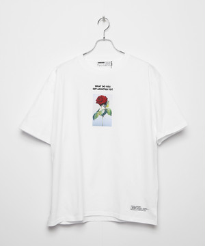 LIMITED ADDICT ROSE EMBROIDERY T-shirt [White]