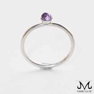 Sphere Ring:銀925エビコットカットアメジストリング