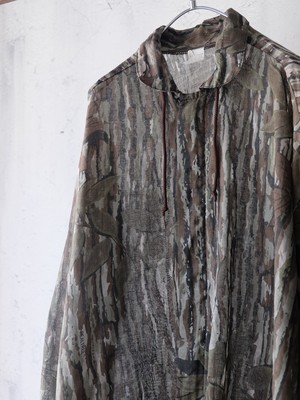 see-through camouflage parka