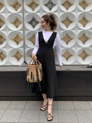 【予約】vneck jumper skirt / black 3/20 21:00 ~ 再販  (4月下旬発送予定)