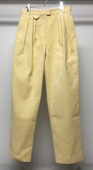 SAMUEL GUI YANG TRIPLE PLEATED TROUSERS BUTTER