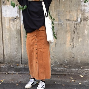 long corduroy skirt