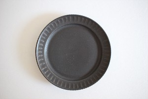 松岡賢司(平安楽堂) 鎬 豆皿 黒マット