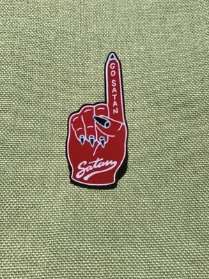 "RAT PINS""GO SATAN"""