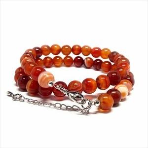 天然石 ネックレス 赤縞瑪瑙 サードオニキス