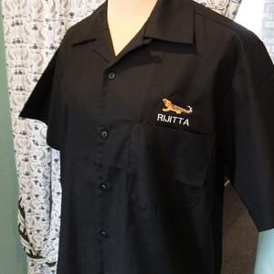 フトアゴヒゲトカゲの刺繍名入れワークシャツ