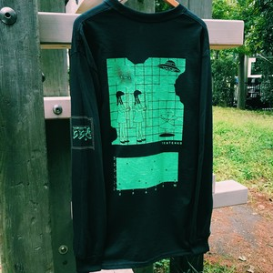 Black Hole Long T-shirts (Black×Green)