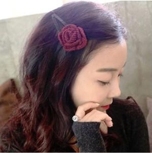ヘアピン❤一輪の可憐なバラがあなたの頭に咲いてしまいます hdfks961692