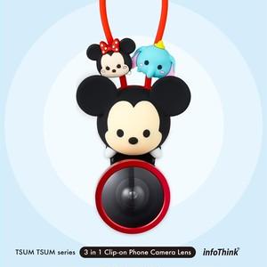 InfoThink Disney TSUM TSUM ツムツム 3 in 1 Clip-on スマホカメラレンズ iCamLens-100 (Mickey)