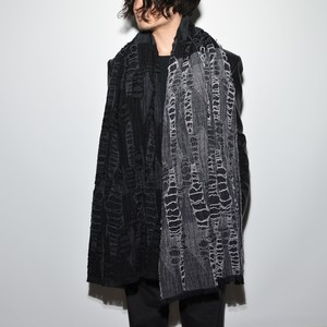 Four Face Wool Stole〈Monotone〉