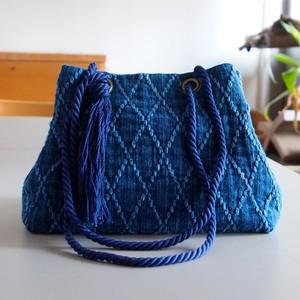 うしじま縫製 | 武州正藍染 2WAYバッグ(手提げ・ショルダー) 二重刺子