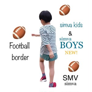 Simva Boys&Girls 604-0001 Football 切り替え 5分袖 BorderTシャツ