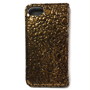 iPhone7 BookType [Water Drop] Bronze×Brown