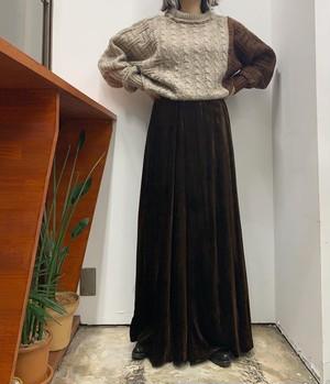 MR.MORT velours maxi skirt【M位】