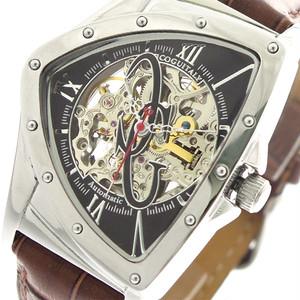 コグ COGU 腕時計 メンズ BNTS-BK 自動巻き ブラック ブラウン ブラック