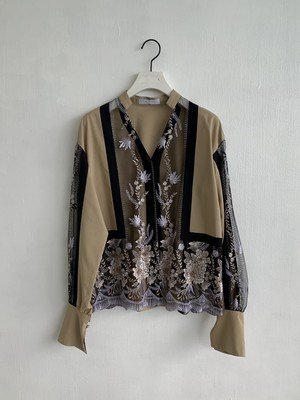 MURRAL  FRAMED FLOWER BLOUSE